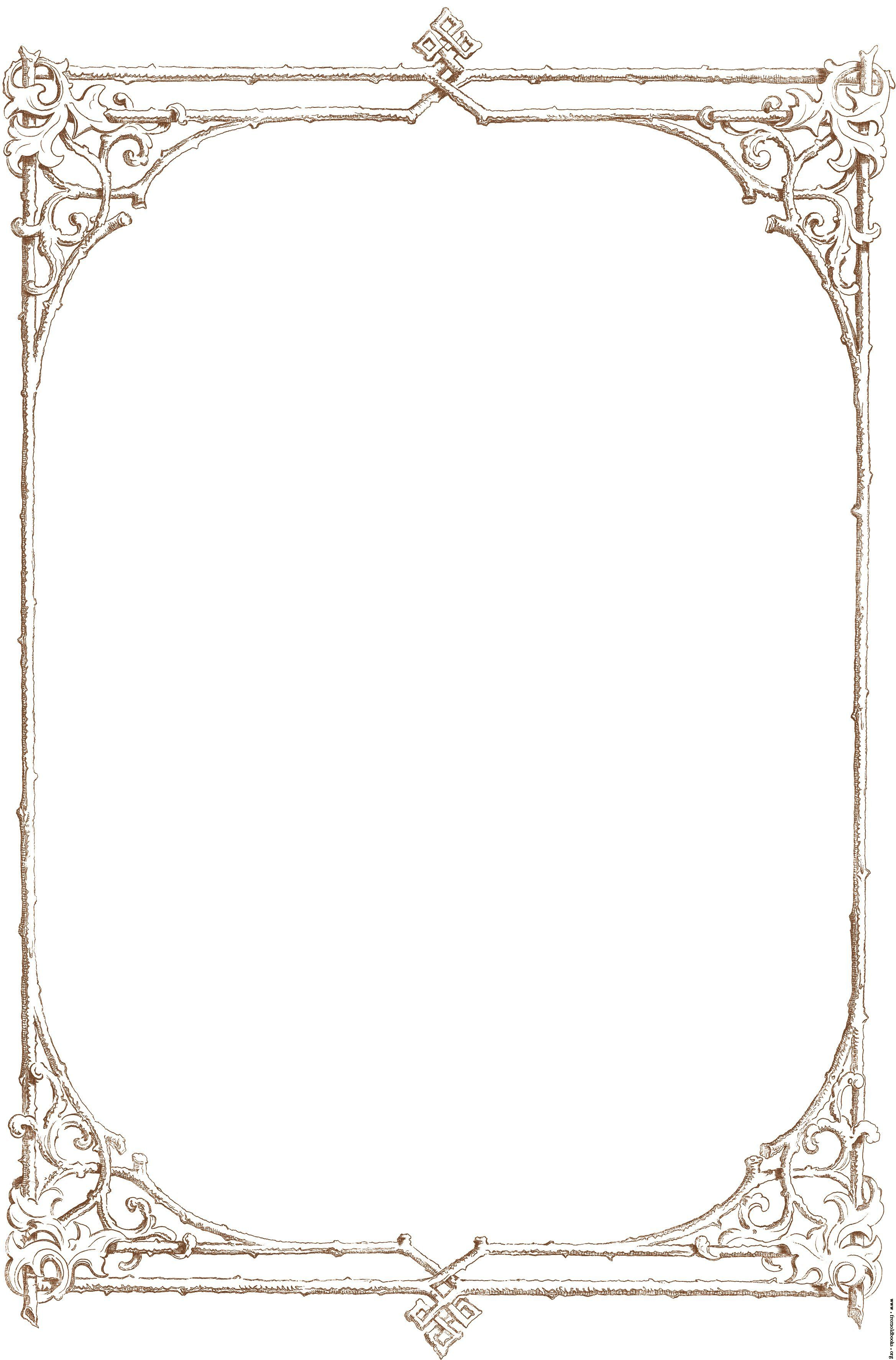 Victorian borders clipart clipart royalty free download Free Clip Art Victorian Border Of Brown Twigs Details ... clipart royalty free download