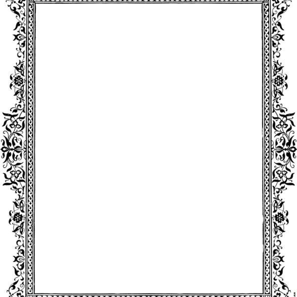Victorian borders clipart graphic stock Decorative Clip-Art Victorian Border, Black And White ... graphic stock