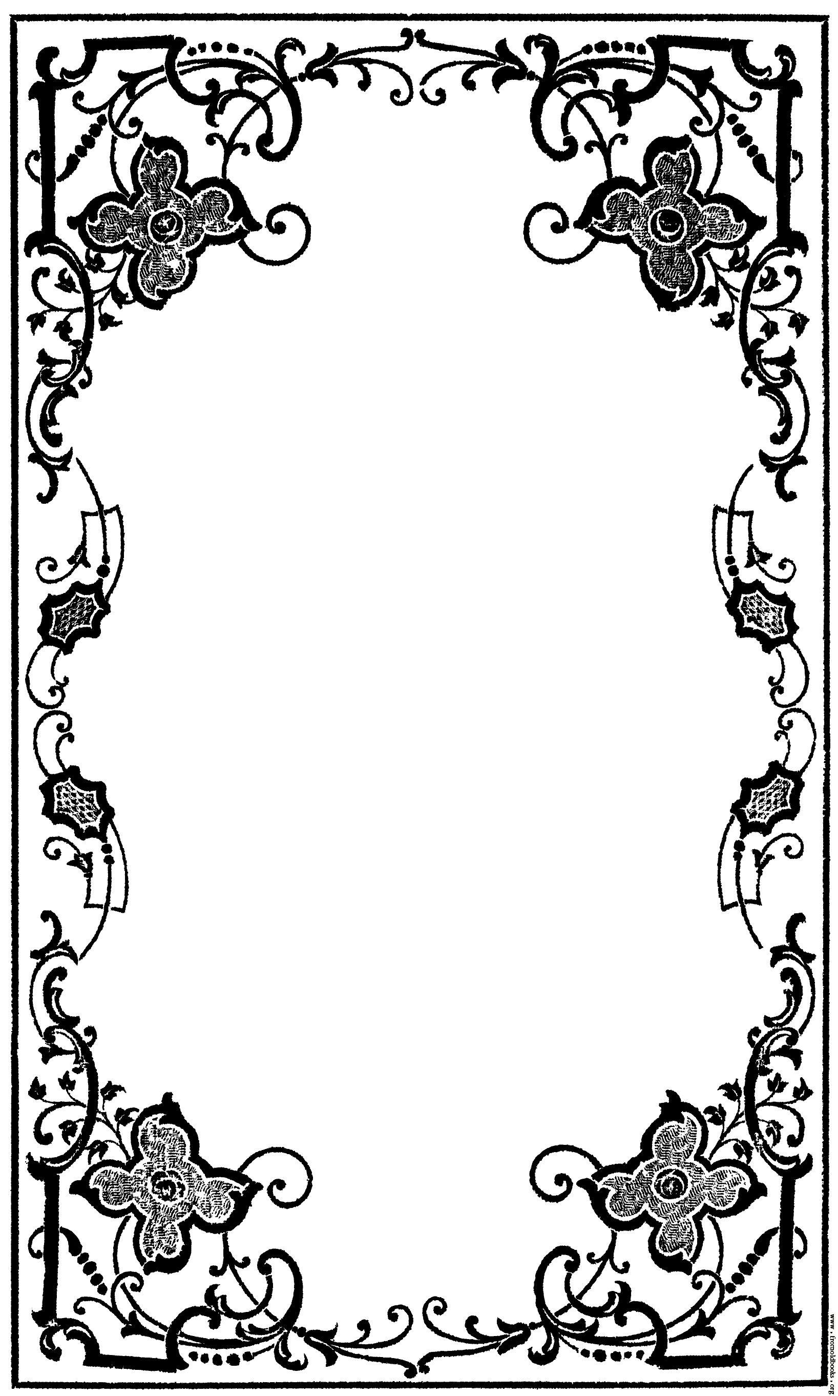 Victorian borders clipart clip black and white stock victorian book decoration - Google Search | Parlor Party ... clip black and white stock