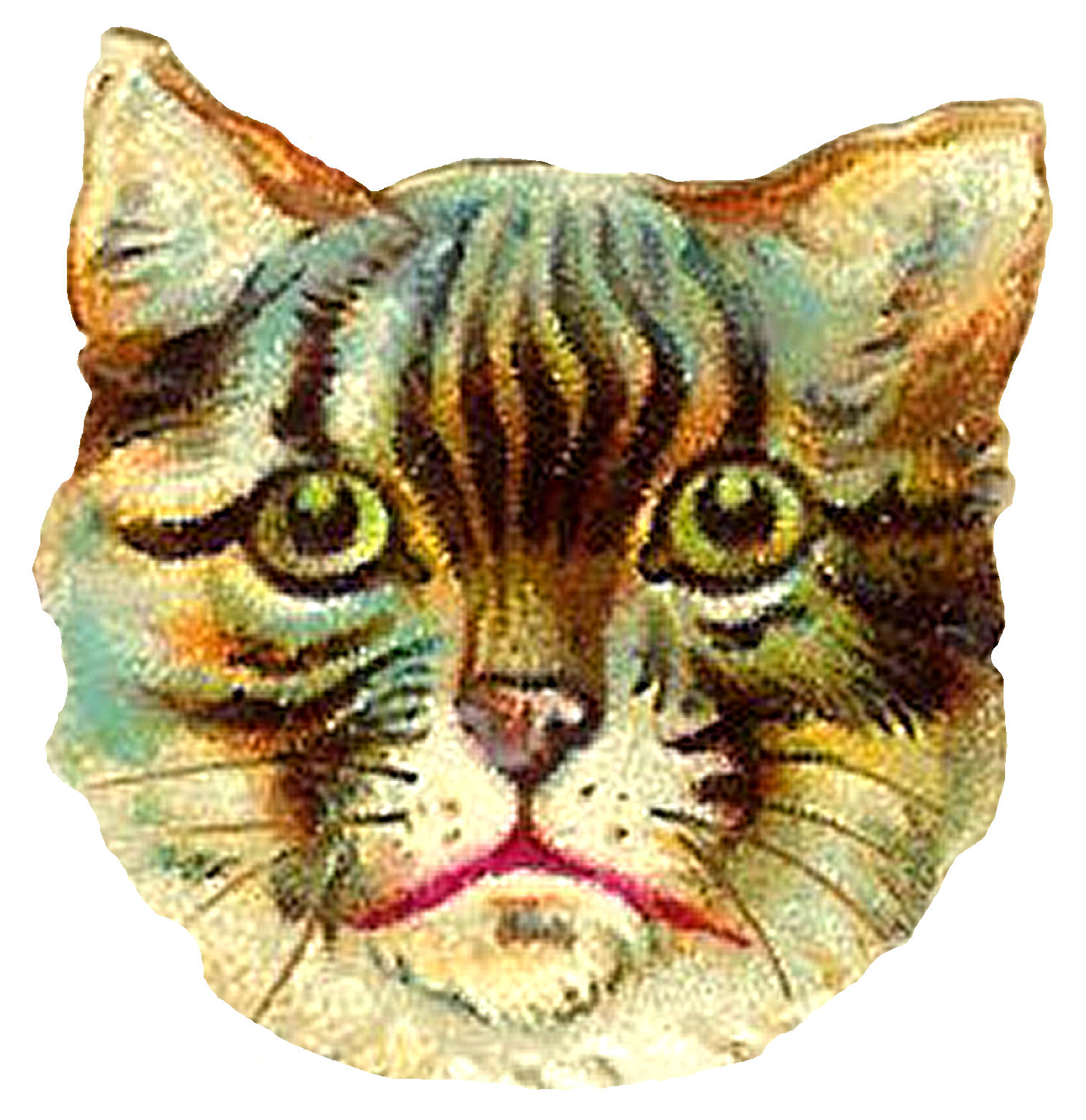 Victorian cat clipart vector royalty free library Antique Images: April 2013 vector royalty free library