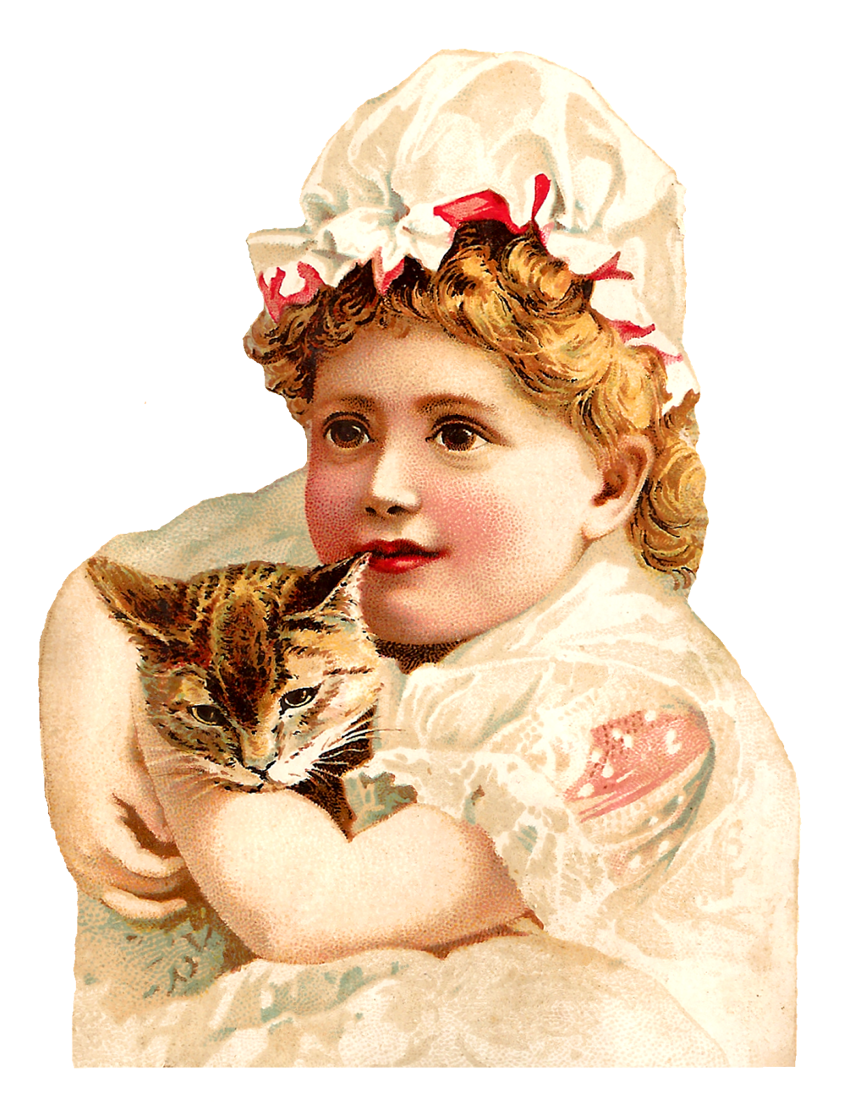 Victorian cat clipart png transparent download Antique Images: Free Printable Victorian Girls Cats Old Clipart ... png transparent download