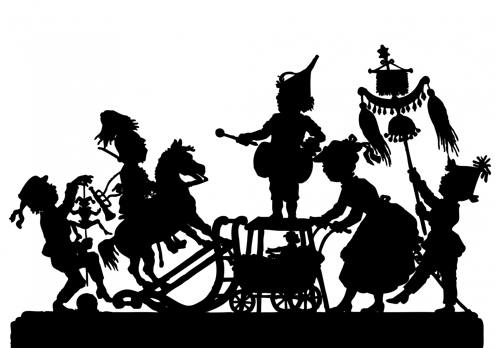 Victorian children playing silhouette clipart free banner transparent Parade,silhouette,victorian,people,children - free photo ... banner transparent