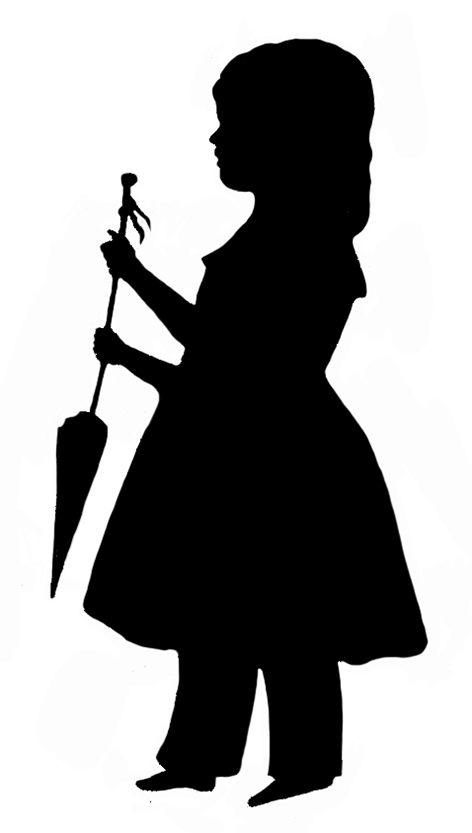 Victorian children playing silhouette clipart free png library stock Victorian Silhouette Clipart png library stock