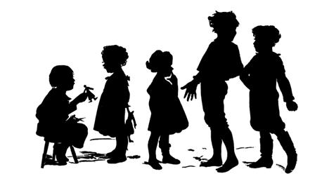 Victorian children playing silhouette clipart free picture Free Victorian Children Pictures, Download Free Clip Art ... picture