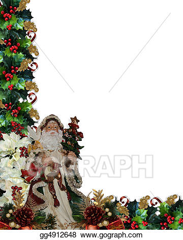 Victorian christmas background clipart png library Stock Illustration - Christmas border victorian santa. Clip ... png library
