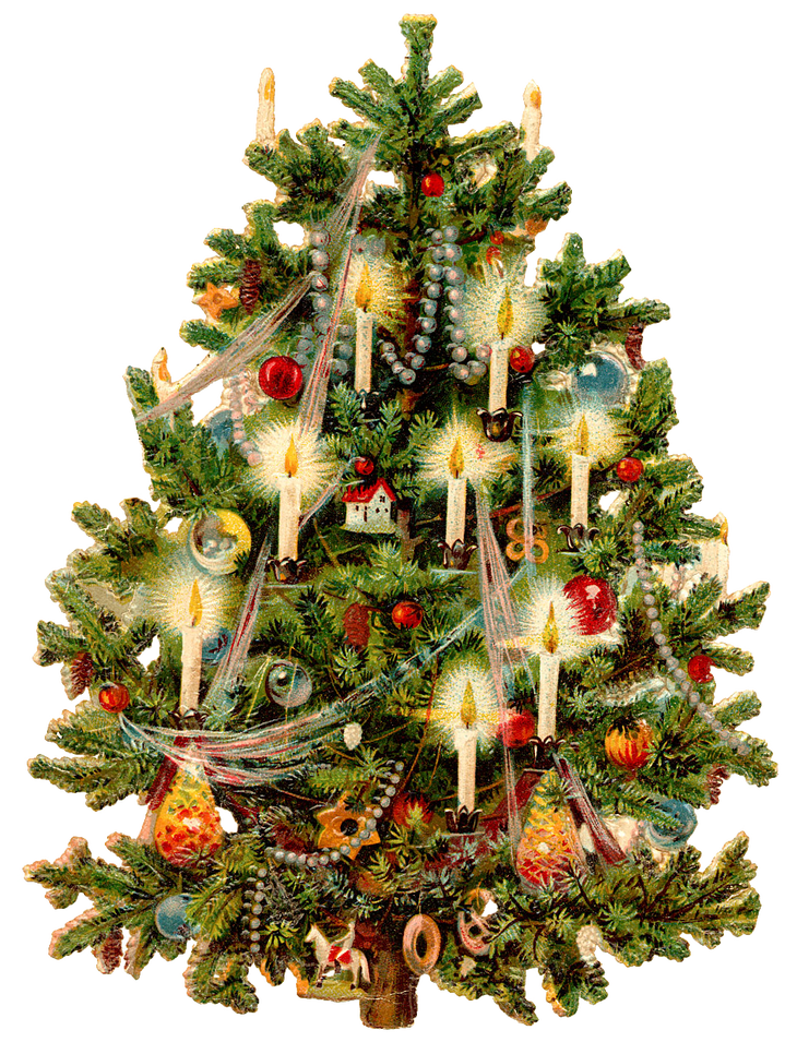 Victorian christmas carolers clipart royalty free library Wings of Whimsy: Victorian Christmas Tree PNG (transparent ... royalty free library