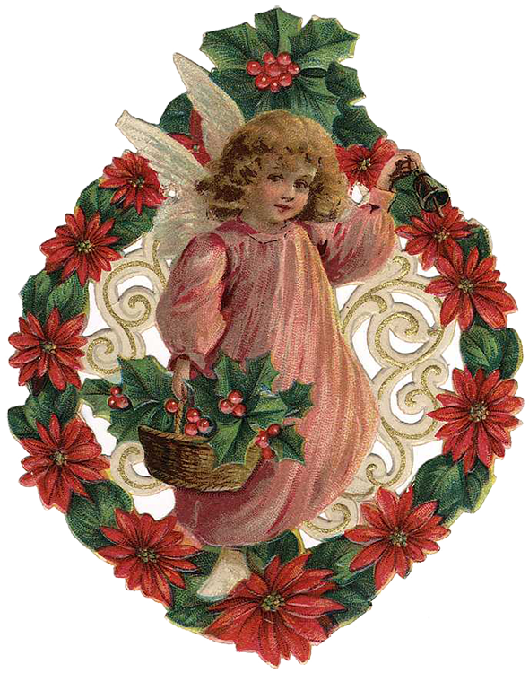 Victorian christmas clipart picture royalty free stock Vintage Victorian Christmas Die Cut Clip Art Day Seven - The ... picture royalty free stock
