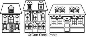 Victorian clipart building image black and white Victorian building Clipart Vector Graphics. 1,257 Victorian ... image black and white
