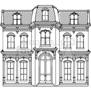 Victorian clipart building clip black and white download victorian home clipart. Royalty-free clipart # 380183 clip black and white download