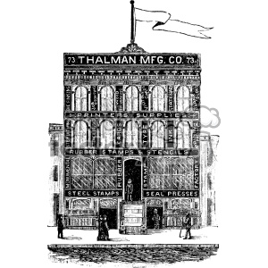 Victorian clipart building png black and white stock Clip Art / Vintage and more related vector clipart images ... png black and white stock