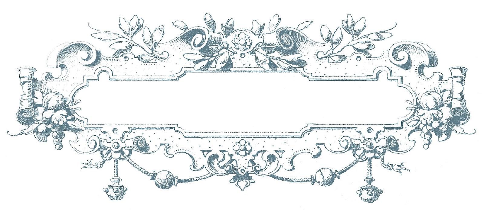 Victorian clipart color png transparent library Vintage Clip Art - Gorgeous Ornate Frames - The Graphics Fairy png transparent library