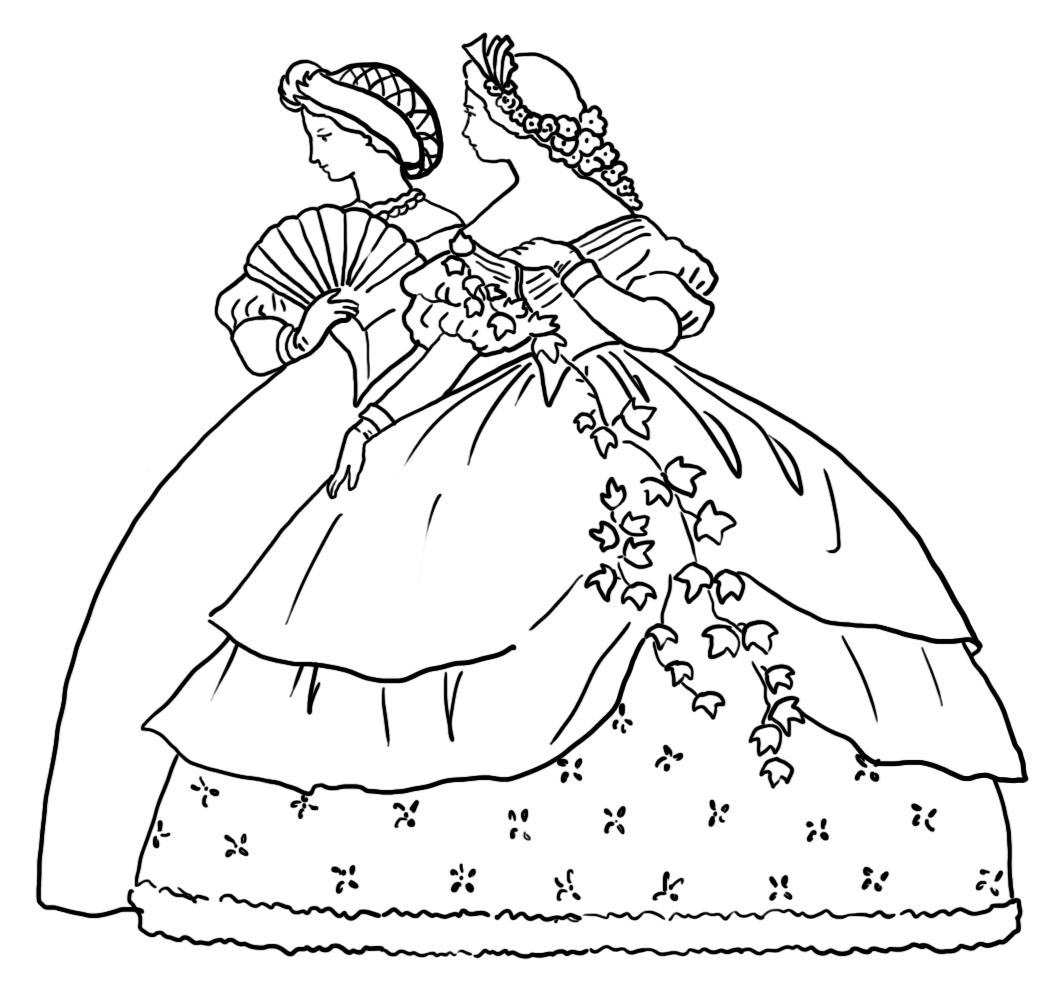 Victorian clipart color clip art free download Victorian Printable Coloring Pictures clip art free download