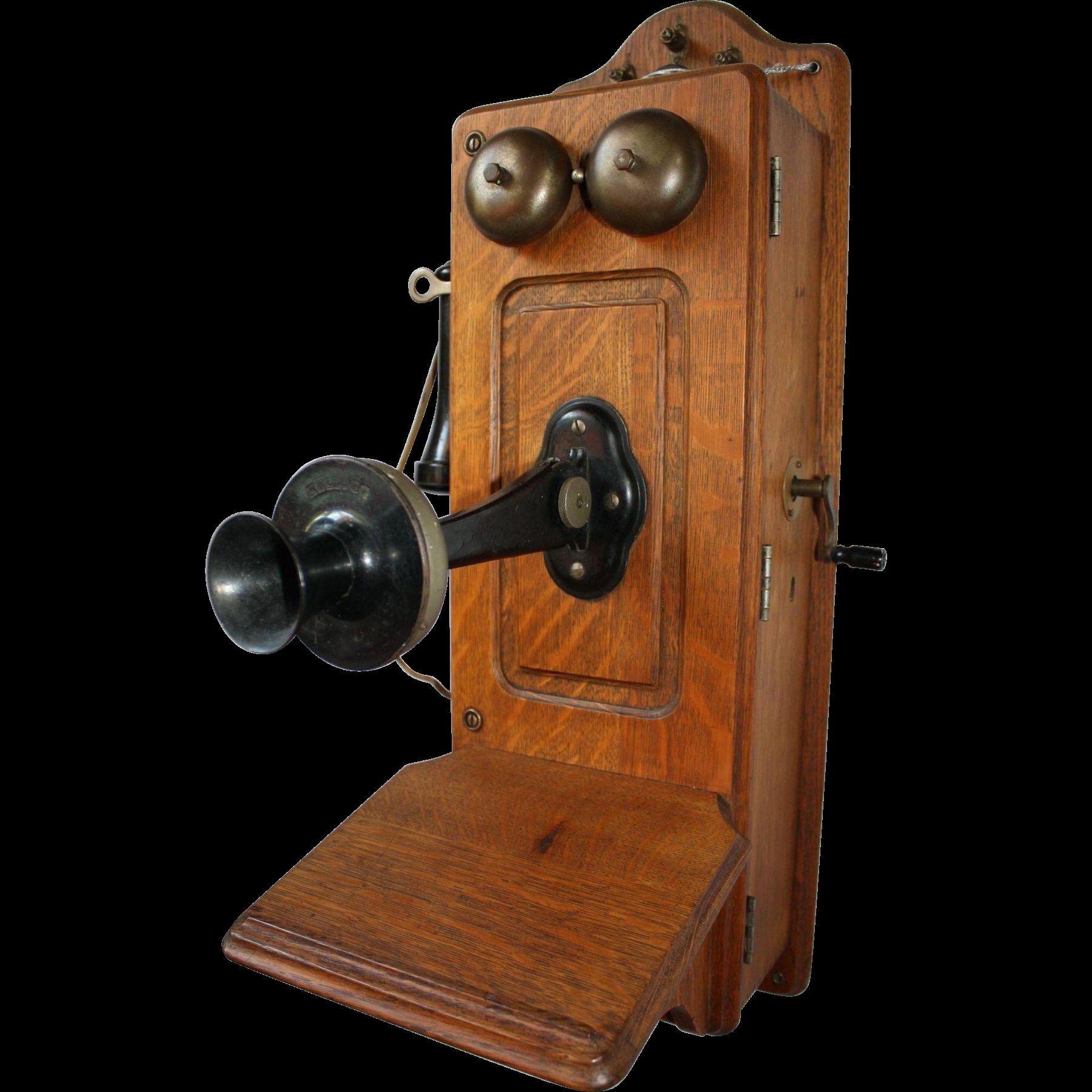 Victorian clipart crank clip art freeuse library Kellogg Oak Wall Crank Telephone, CA Early 1900s   Stage ... clip art freeuse library