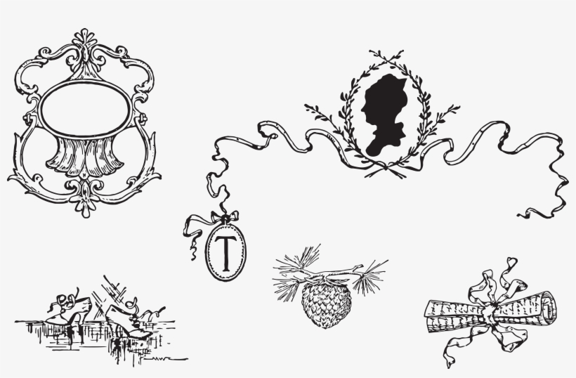 Victorian clipart free decorative image free Free Clipart Vintage Victorian Love Letter Decorative ... image free