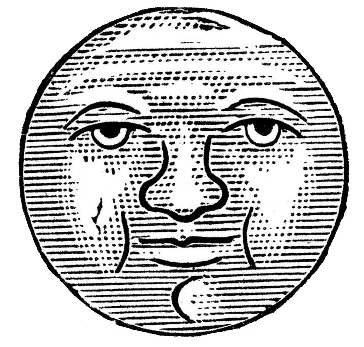 Victorian clipart moon jpg free Free Vintage Sun Cliparts, Download Free Clip Art, Free Clip ... jpg free