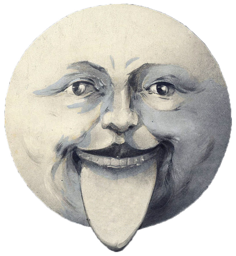 Vintage moonface clipart png black and white stock 11 Man in the Moon Clipart! - The Graphics Fairy png black and white stock