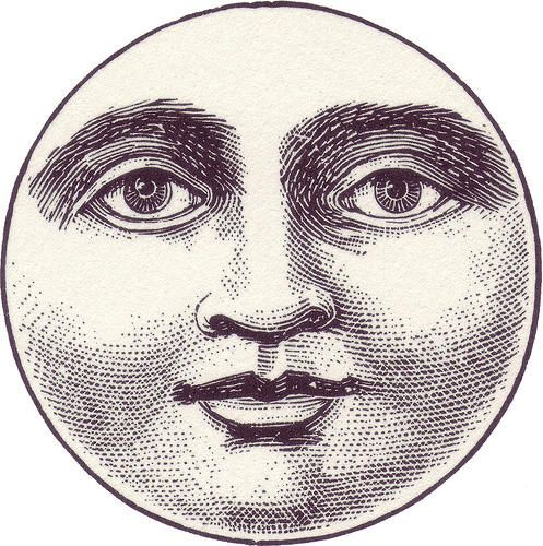 Victorian clipart moon clipart library download moon-face-clipart | Illustration | Vintage moon, Moon face ... clipart library download