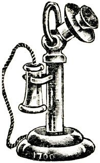 Victorian clipart telephone banner library library Image result for drawing of old fashioned telephone ... banner library library