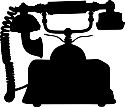 Victorian clipart telephone clip freeuse stock Vintage telephone silhouette   Public domain vectors clip freeuse stock