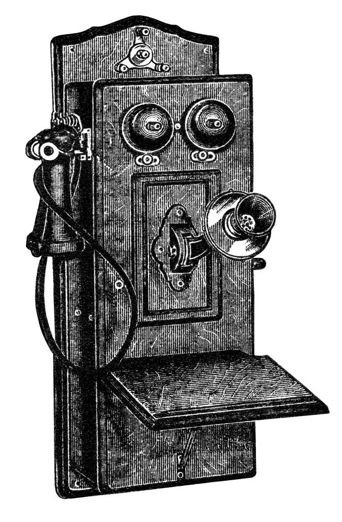 Victorian clipart telephone picture transparent library antique telephone clip art, black and white clipart, old ... picture transparent library