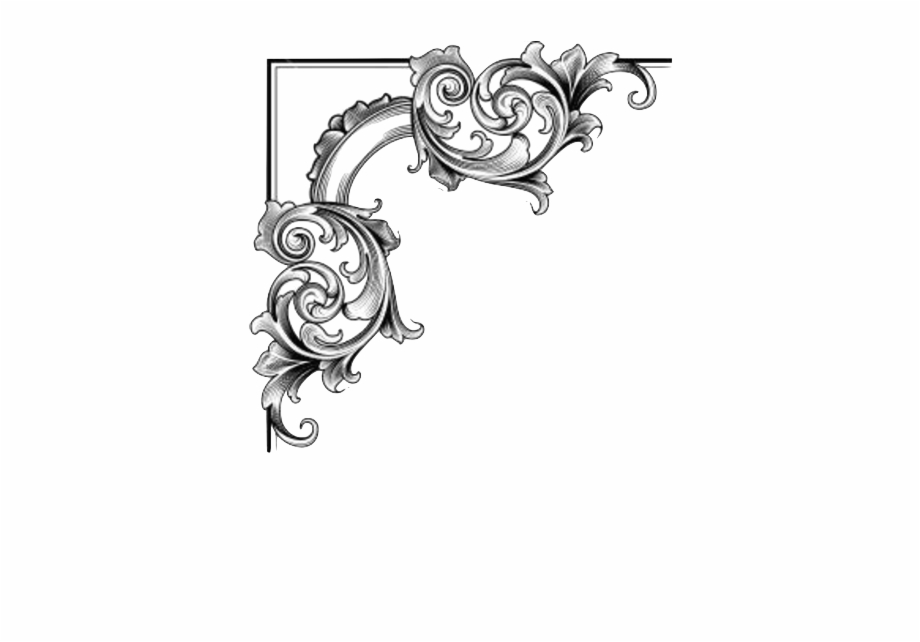 Victorian decorative designs clipart clip transparent library Corners Vector Halloween - Victorian Corner Borders Png Free ... clip transparent library