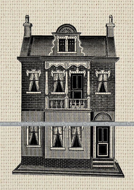 Victorian doll house clipart clip freeuse stock Victorian Vintage Doll House clipart Printable by ... clip freeuse stock