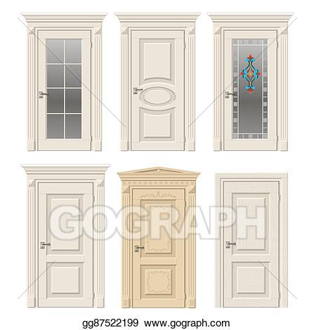 Victorian door clipart clip art royalty free Vector Art - Set of classic doors. Clipart Drawing ... clip art royalty free