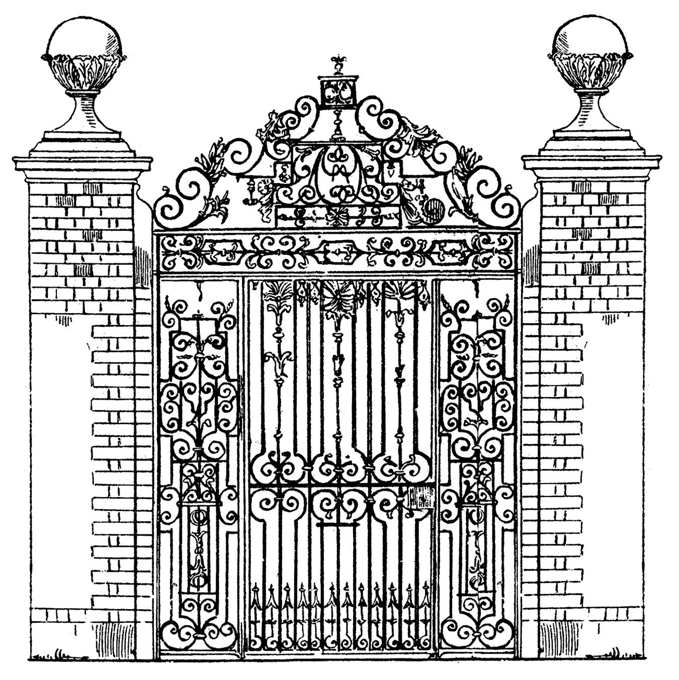 Victorian door clipart png free stock Victorian Iron Gate Clipart - Clip Art Library png free stock