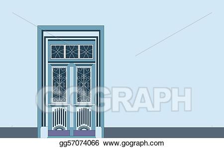 Victorian door clipart banner stock Stock Illustrations - Door - entrance. Stock Clipart ... banner stock