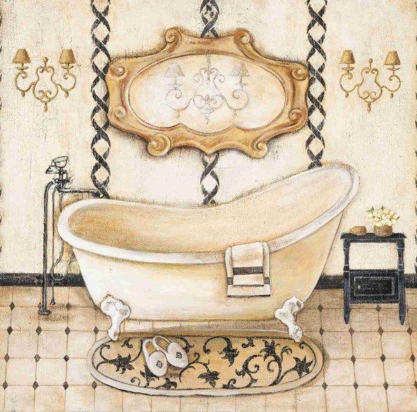 Victorian ere bathtub clipart