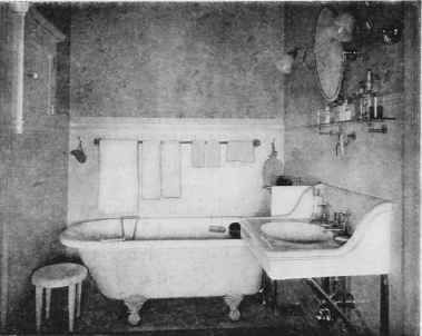 Victorian ere bathtub clipart graphic transparent A green and white bathroom from a 1910 Sherwin Williams ... graphic transparent