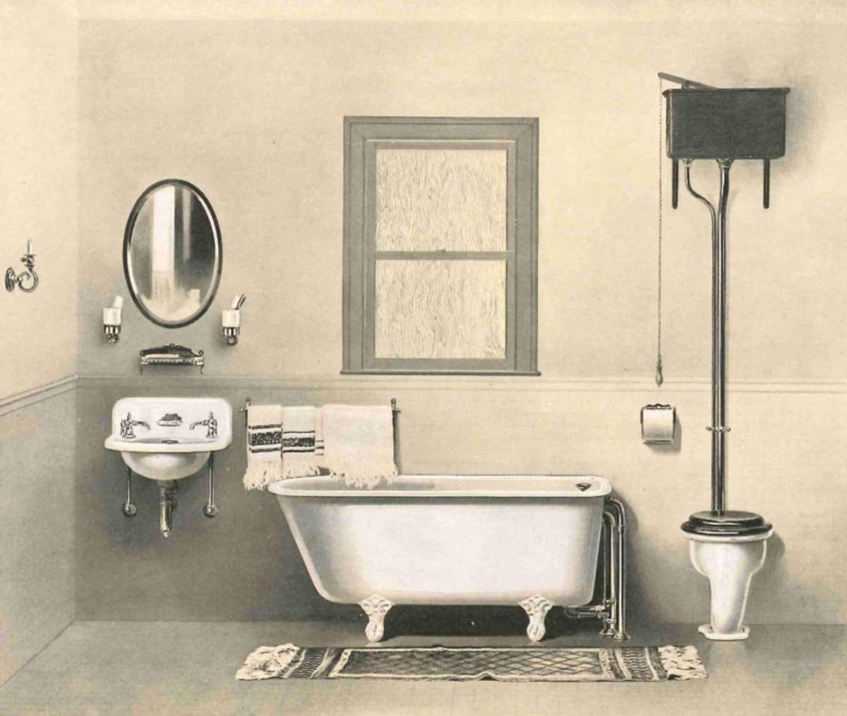 Victorian ere bathtub clipart jpg black and white download The History of the Lavatory - Old House Journal Magazine jpg black and white download