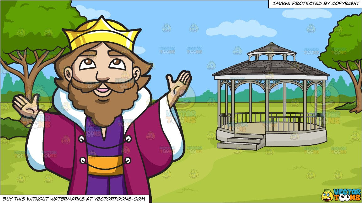 Victorian garden clipart park clipart svg A King Thanking The Heavens and A Victorian Park With Gazebo Background svg