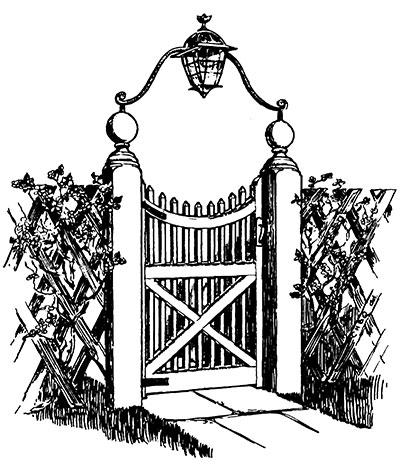 Victorian garden clipart park clipart vector stock How to Make a Victorian Wooden Gate - Victoriana Magazine vector stock