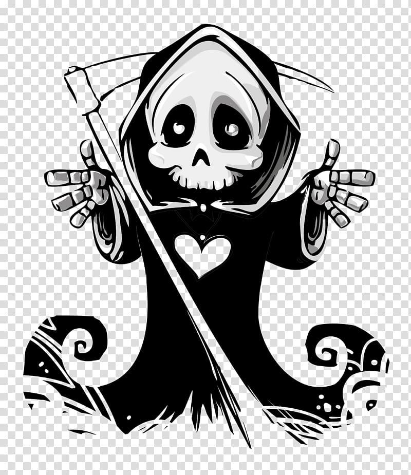Victorian grim reaper clipart image black and white stock Of grim reaper, Death Calavera Skull Hug Ghost, Ghost ... image black and white stock