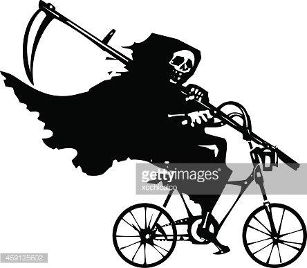 Victorian grim reaper clipart black and white Grim Reaper ON A Bicycle premium clipart - ClipartLogo.com black and white