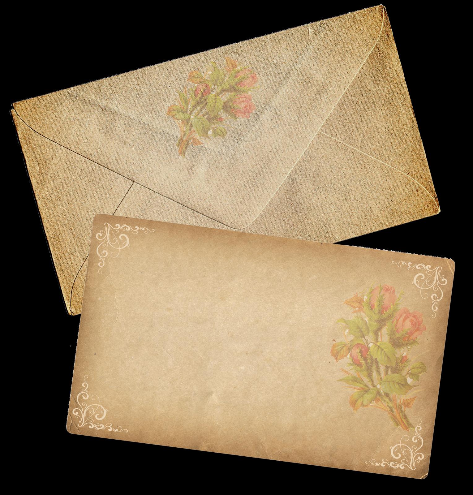 Victorian halloween clipart skimersans clip art free stock Vintage Scrapbooking: Note and Envelope Scrapbook Journaling Card clip art free stock