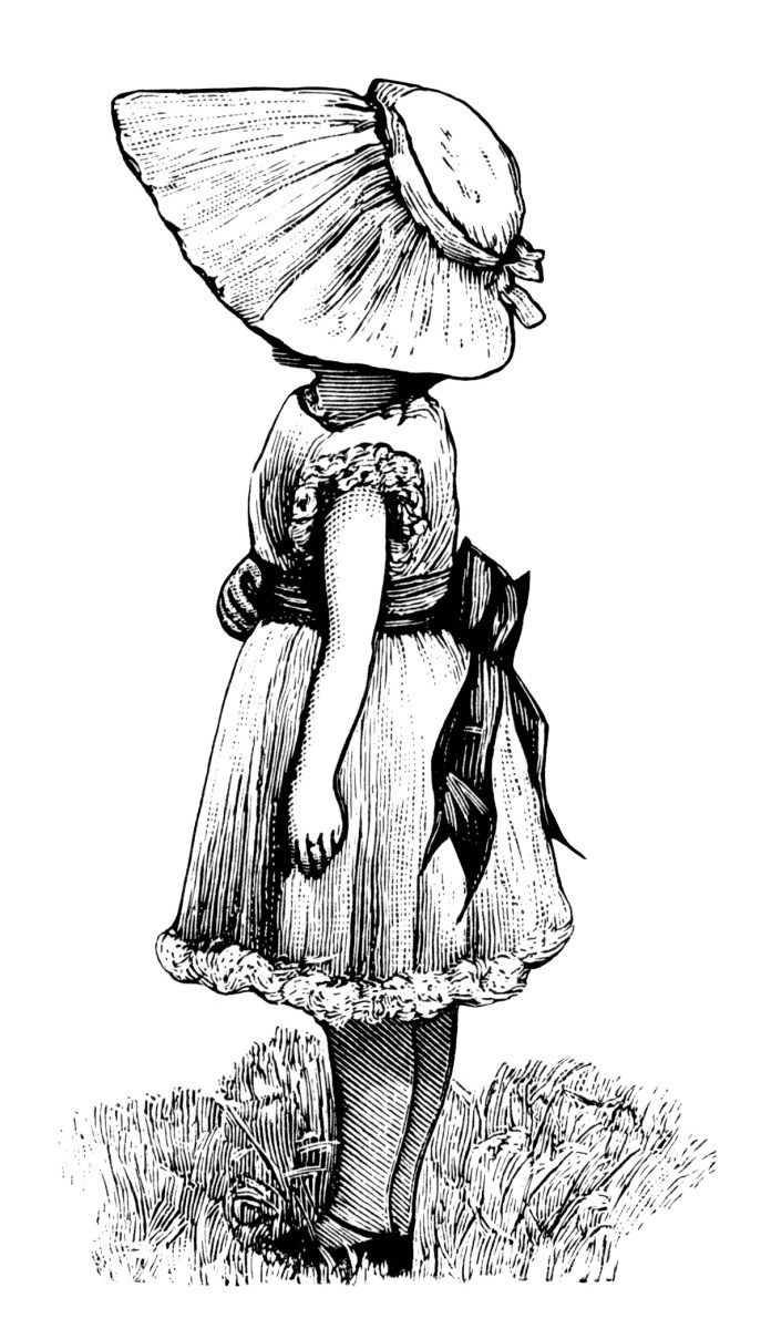 Victorian hand female clipart clipart Here is an image of a young Victorian girl, facing left ... clipart