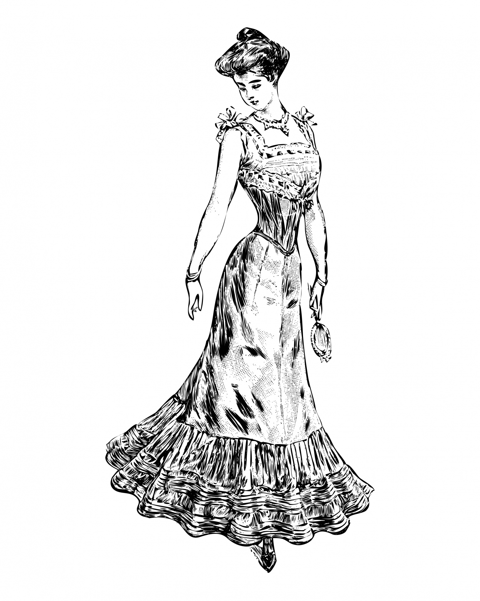 Victorian hand female clipart png free stock Woman,victorian,vintage,beautiful,elegant - free photo from ... png free stock