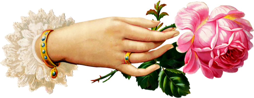 Victorian hand female clipart image library library HD Victorian Rose Cliparts - Victorian Hand Holding Flowers ... image library library