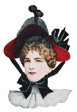 Victorian hat clipart png banner stock Victorian Ladies Dress Hats Clip Art banner stock