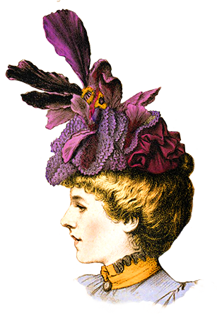Victorian hat clipart png clip art free library Victorian Ladies Dress Hats Clip Art clip art free library