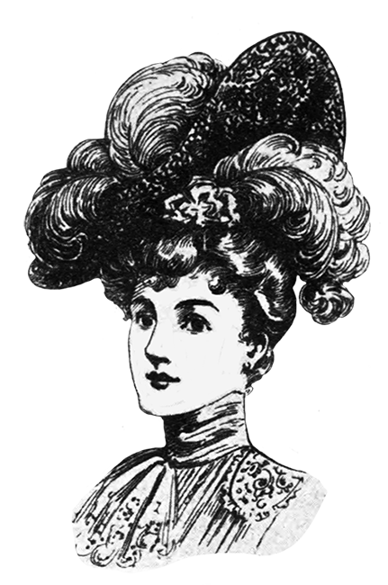 Victorian hat clipart png clipart black and white Victorian Ladies Dress Hats Clip Art clipart black and white
