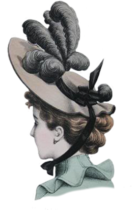 Victorian hat clipart png graphic library stock Victorian Ladies Dress Hats Clip Art graphic library stock