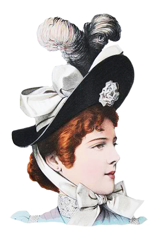 Victorian hat clipart png jpg black and white stock Victorian Ladies Dress Hats Clip Art jpg black and white stock