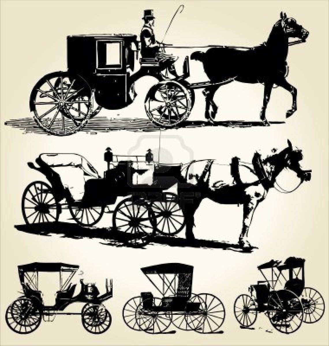 Victorian horse and carriage clipart vector royalty free download Stock Vector | paper cut cut | Vintage horse, Horses, Horse ... vector royalty free download