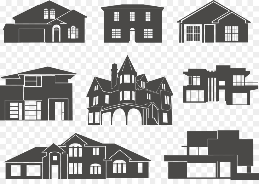 Victorian house silhouette clipart graphic library library House Silhouette Building Clip art - Vector house png ... graphic library library