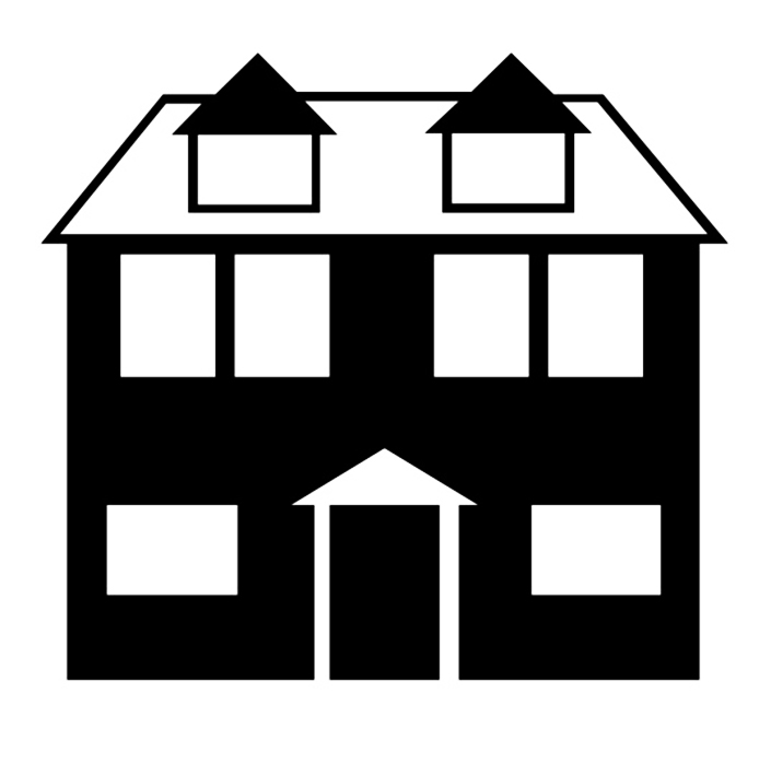 Victorian house silhouette clipart picture free Silhouette Of A House Group with 73+ items picture free