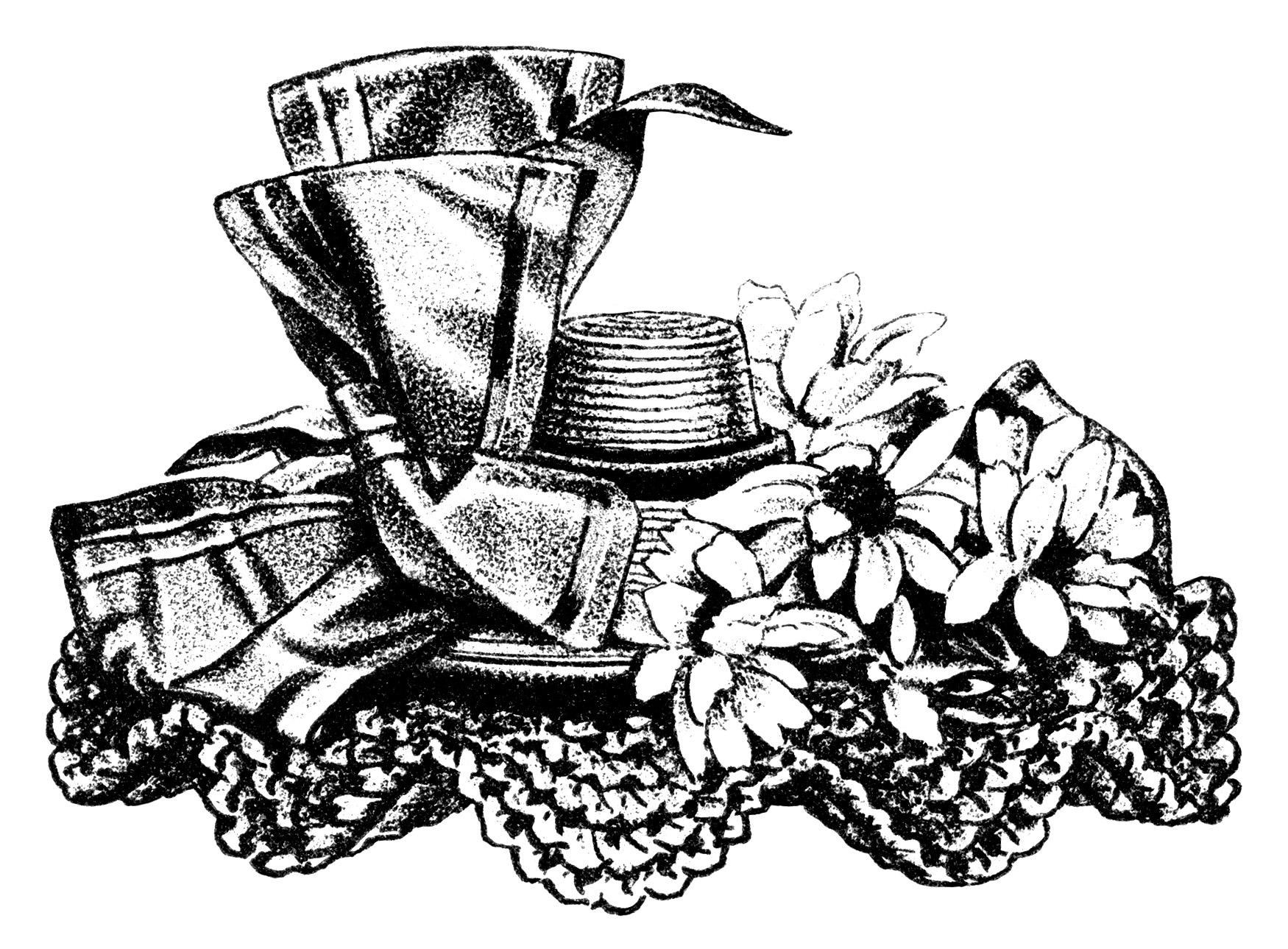 Victorian ladies hats clipart jpg Victorian Ladies\' Hats ~ Free Clip Art - Old Design Shop Blog jpg