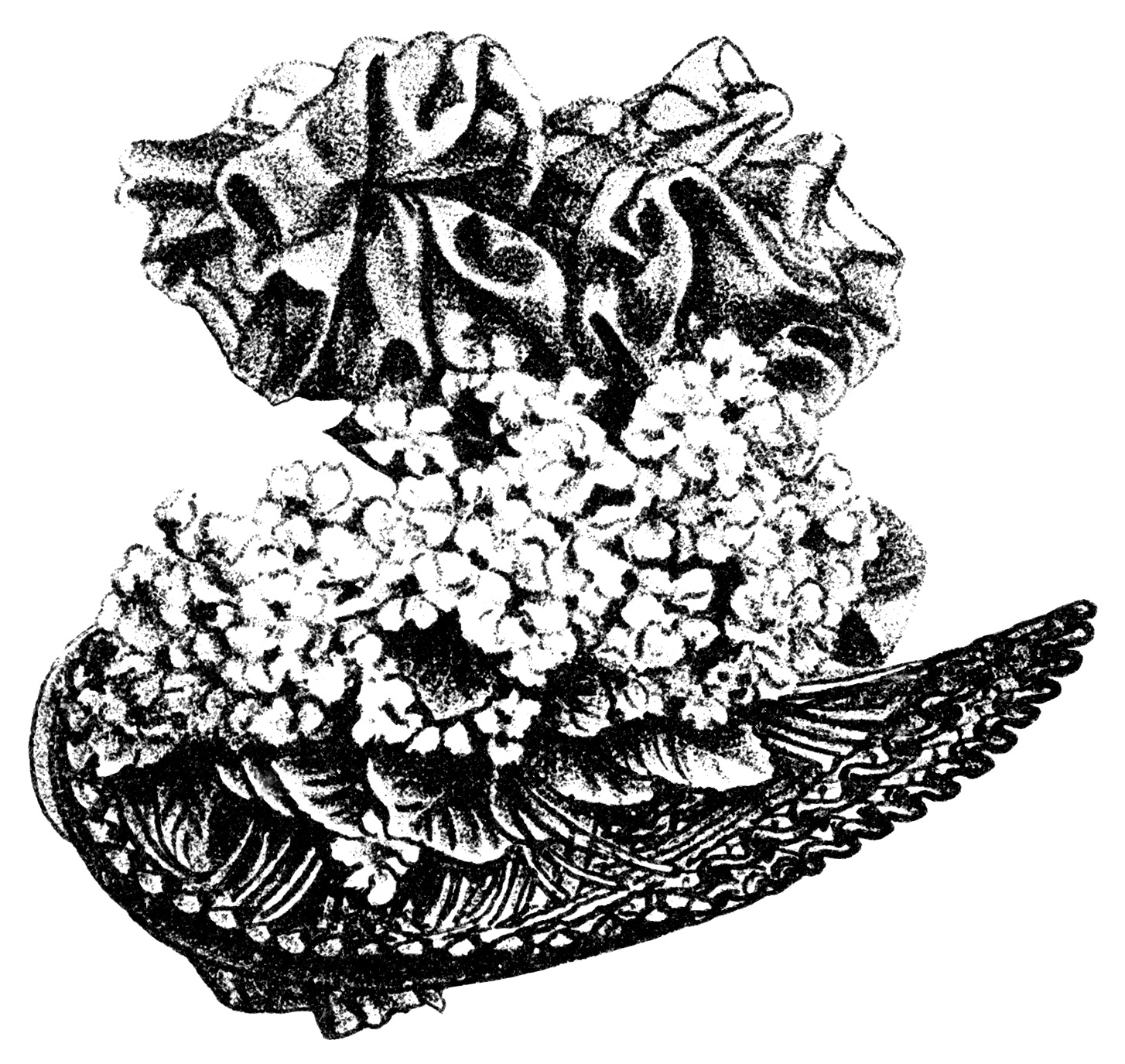 Victorian ladies hats clipart jpg freeuse Victorian Ladies\' Hats ~ Free Clip Art - Old Design Shop Blog jpg freeuse